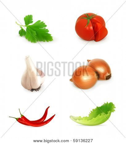 Vegetables set, bitmap copy