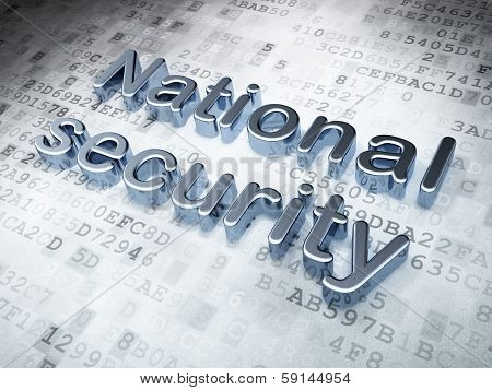 Security concept: Silver National Security on digital background