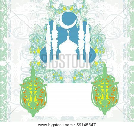 Abstract Religious Background - Ramadan Kareem Vector Design