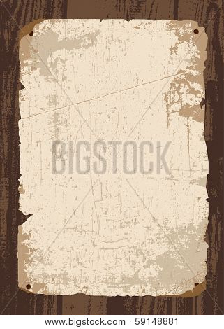 Vector retro old paper and parchment template. All pieces and distressed overlays are separated.