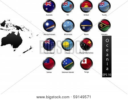 Country Buttons Oceania