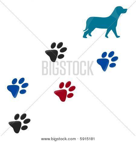 Hund Tatze-Druck
