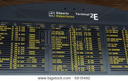 Tablero de salida de aeropuerto