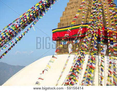 Bodhnath Stupa in Kathmandu.