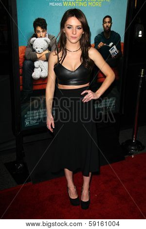 LOS ANGELES - JAN 27:  Addison Timlin at the