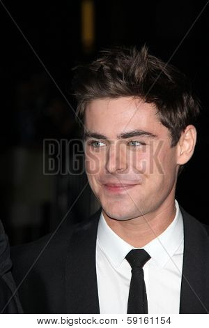 LOS ANGELES - JAN 27:  Zac Efron at the