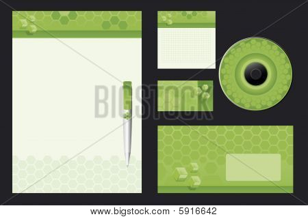 Green template background