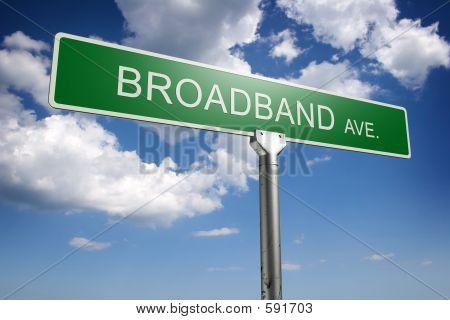 Conceito de banda larga Avenida