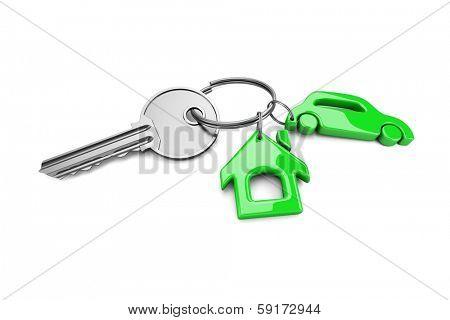Key chain. Concept of success. 3d visualization