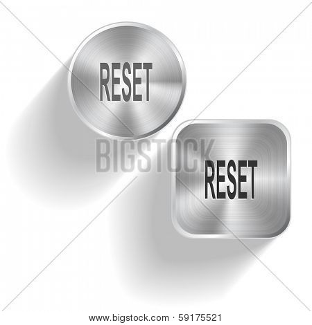 Reset. Raster set steel buttons