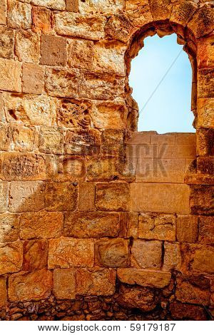 Byzantine church in Masada fortress in Israel