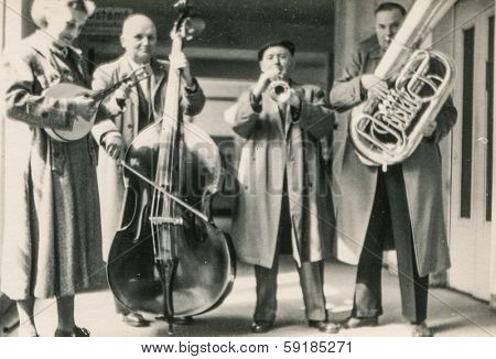 GERMANY, CIRCA FIFTIES - Vintage photo of musical band