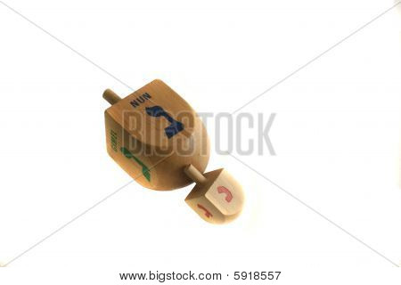 Two Wooden Dreidels