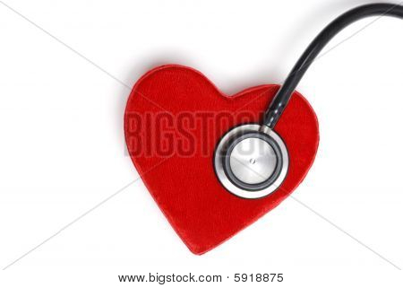 Stethoscope On A Red Heart