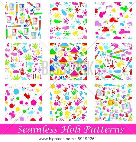 Seamless Holi Pattern