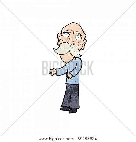 cartoon lonely old man