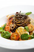 pic of tiger prawn  - Seafood Spaghetti with Tiger Prawns - JPG
