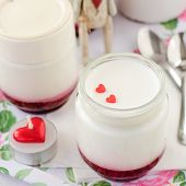Natural Yoghurt With Raspberry Jam
