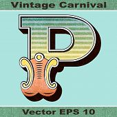 foto of letter p  - The Letter P of an Alphabet Sit of Vintage - JPG