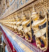 picture of garuda  - A close up of a Garuda sculpture at Thailand Royal palace Bangkok Thailand - JPG