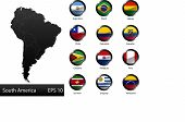 stock photo of south american flag  - High detailed national flags of South American countries - JPG