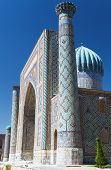 stock photo of samarqand  - View of Sher Dor Medressa  - JPG