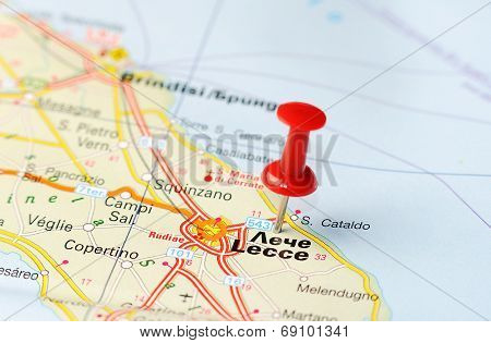 Lecce  Italy Map