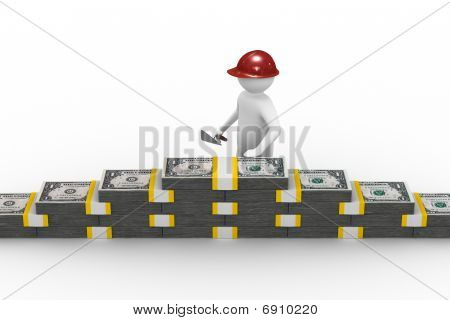 Business Building. Isolated 3D Image On White