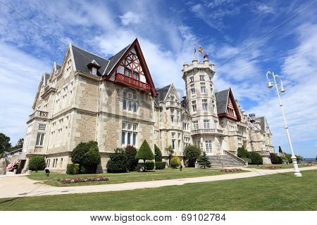 Magdalena Palace In Santander, Spain