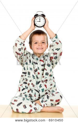Happy Little Boy Bedtime Concept