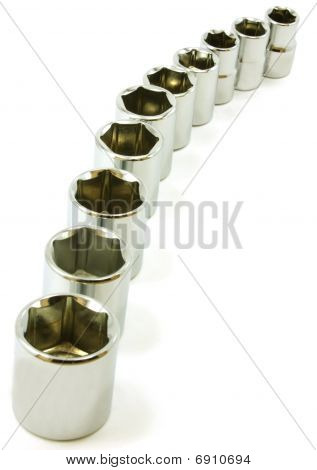 Curve of sockets from ratchet set
