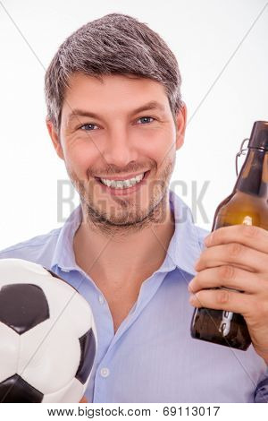 man enjoying soccer seasong sportive