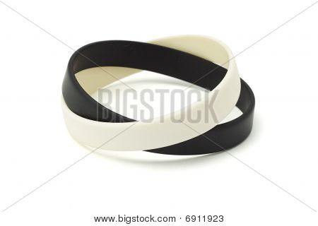 Black And White Wrist Bands