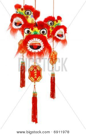 Chinese New Year Lion Head Ornaments