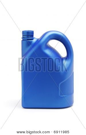 Plastic Container Of Lubrication Oil