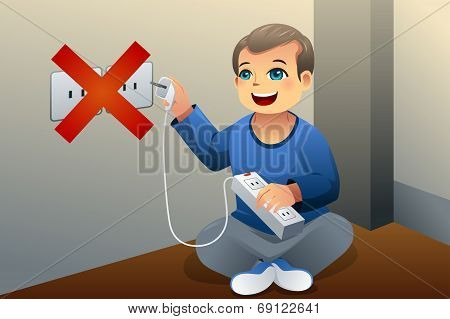 Danger Of Playing With An Electrical Outlet