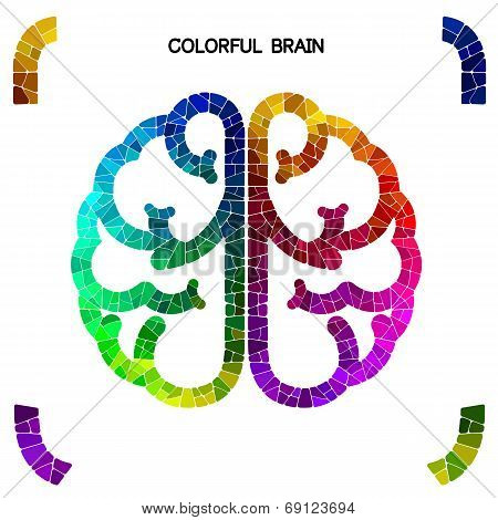 Creative Colorful Brain Sign