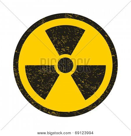 Grunge nuclear symbol vector illustration