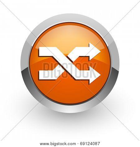 aleatory orange glossy web icon