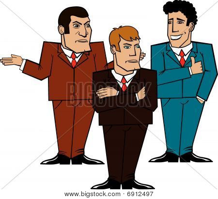 three businessmen discussing a problem