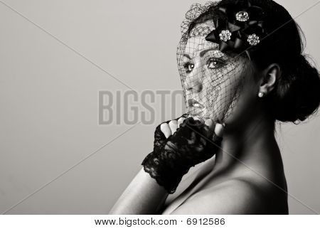 Beautiful Teenage Girl In Veil