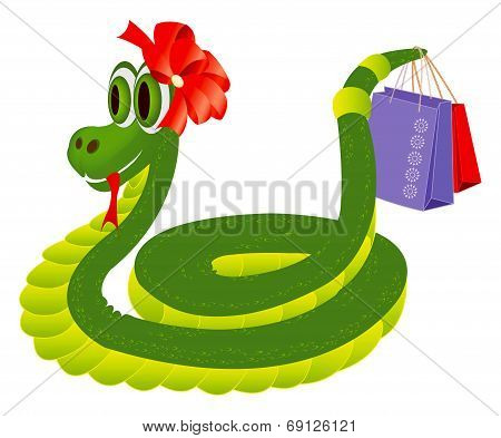 Snake With The Shopping Bags