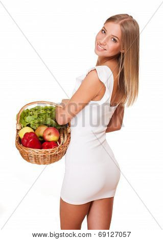 Basket Of Healthy Diet.