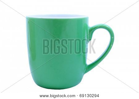 Isolated Green Coffee Mug