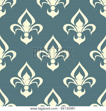 Seamless floral pattern with arabesque element