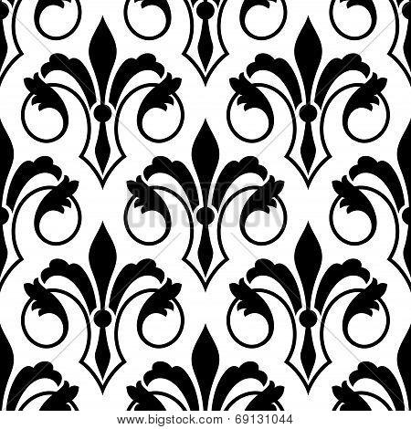 Fleur de Lys seamless bakground pattern