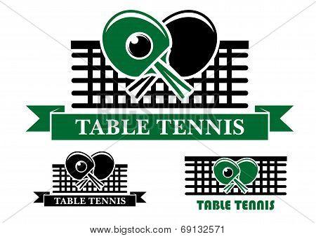 Table Tennis emblems and symbols