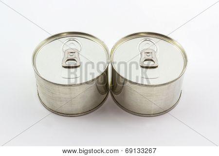 Closeup Aluminum Tin Can.