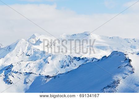 Snow Mountains In Paradiski Skiing Region