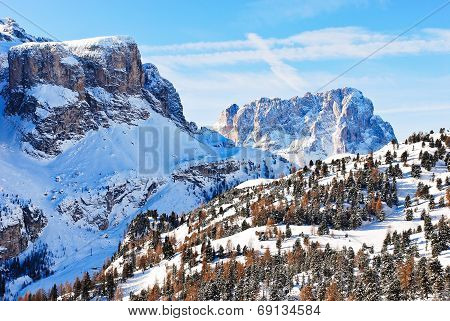 Landscape With Dolomites Mountain, Italy
